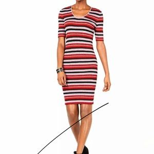 NWT Ribbed stretchy striped sweater dress
